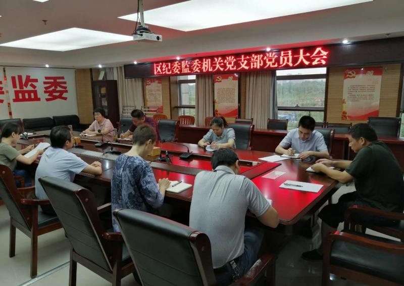 区纪委监委支部认真组织学习《中国共产党基层组织选举工作条例》